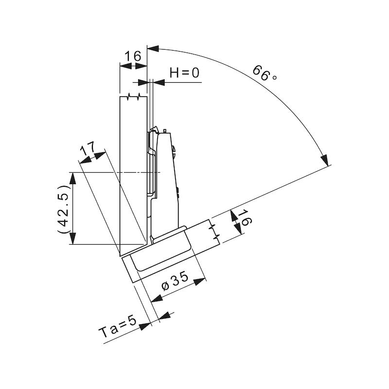 Topfscharnier Nexis Impresso 125 / -24 bis -30 A - 4