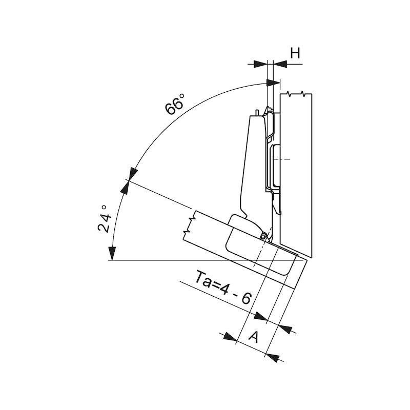 Topfscharnier Nexis Impresso 125 / -24 bis -30 A - 2