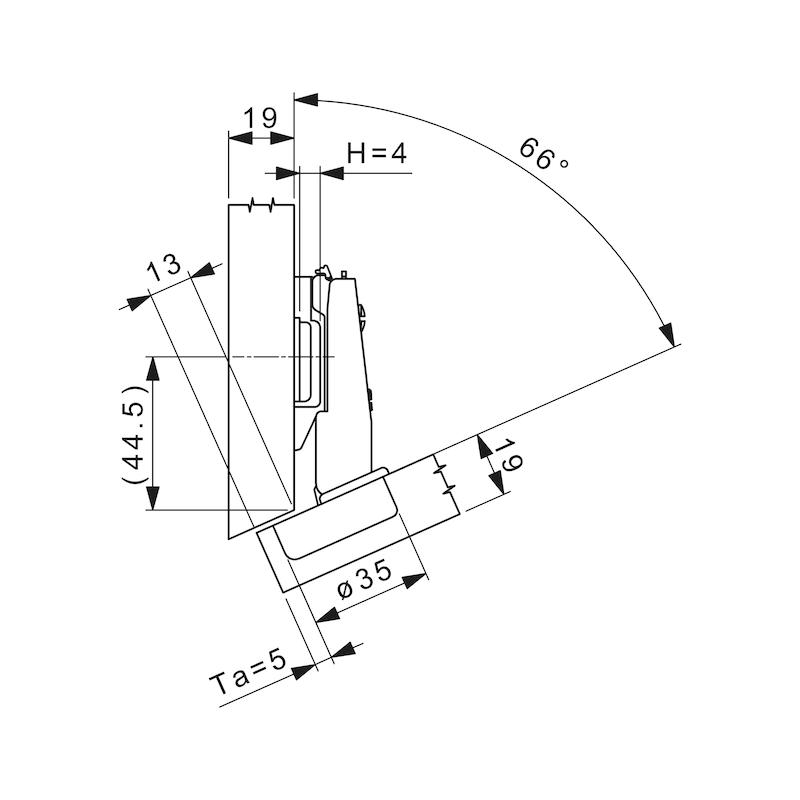 Topfscharnier Nexis Impresso 125 / -24 bis -30 A - 5