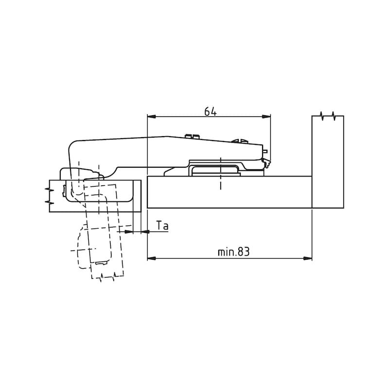 Stollenscharnier Nexis Impresso 95° - 5