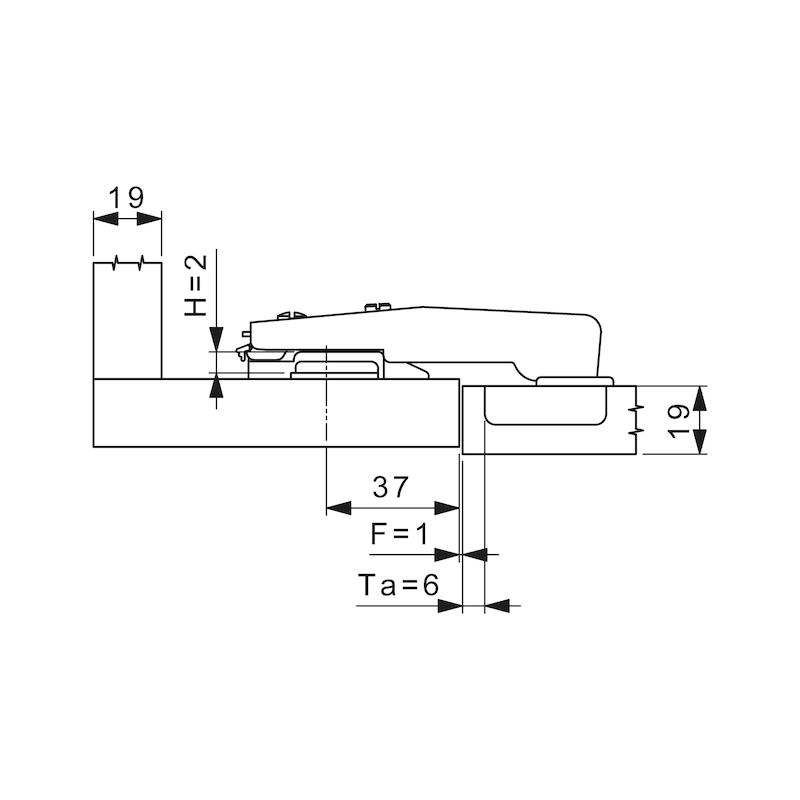 Stollenscharnier Nexis Impresso 95° - 2