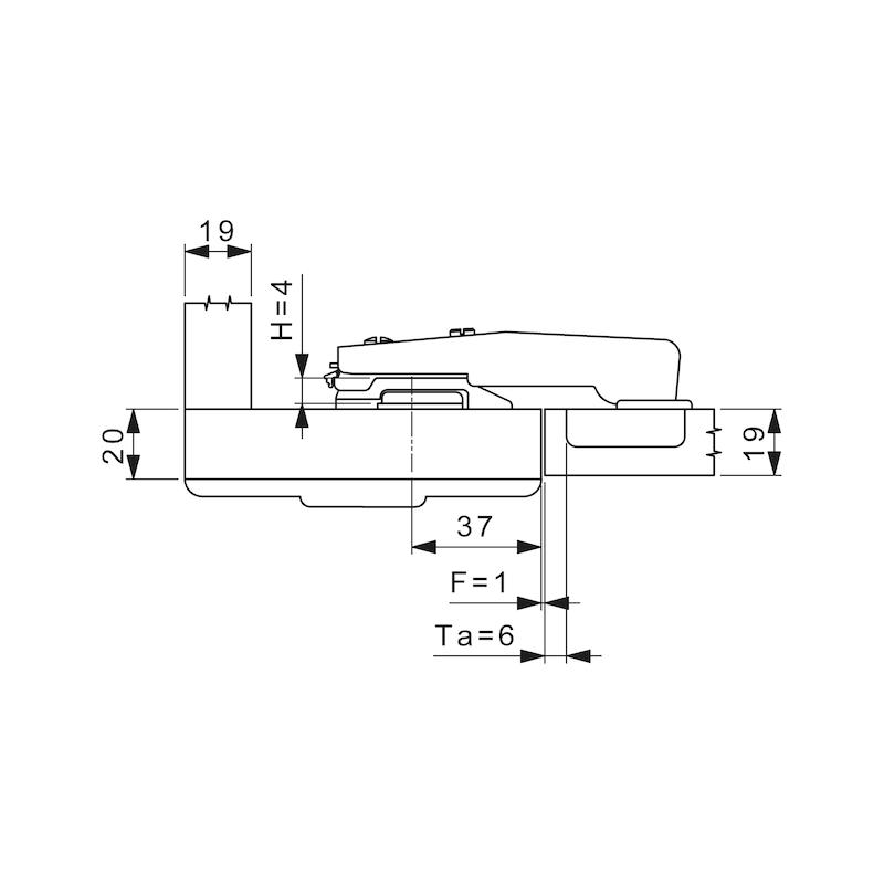Stollenscharnier Nexis Impresso 95° - 3