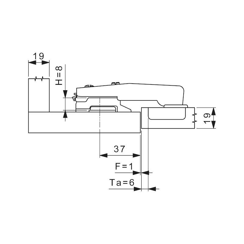 Stollenscharnier Nexis Impresso 95° - 4