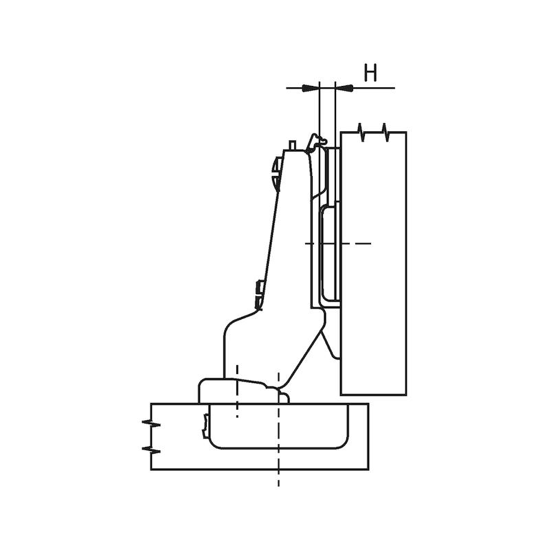 Topfscharnier Nexis Impresso 100 - SHAN-NEXIMP-45/48-MITT-(NI)-100GRD