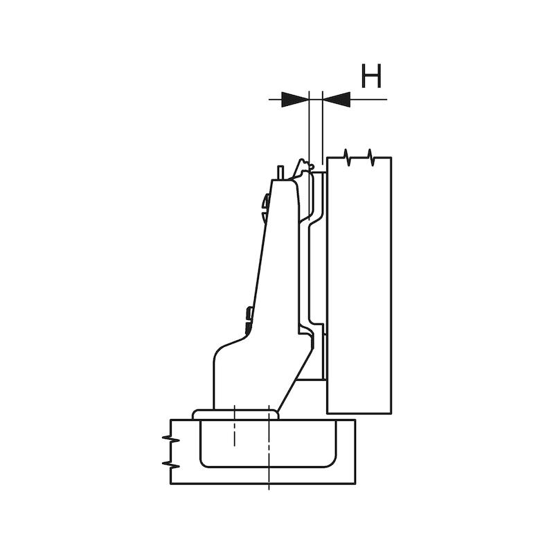 Concealed hinge, Nexis Impresso 125 - HNGE-NEXIMP-45/48-MID-(NI)-125DGR