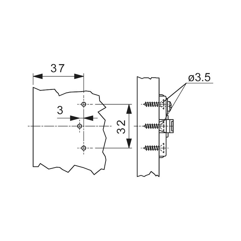 Montageplatte Nexis ZD 2-teilig - 2