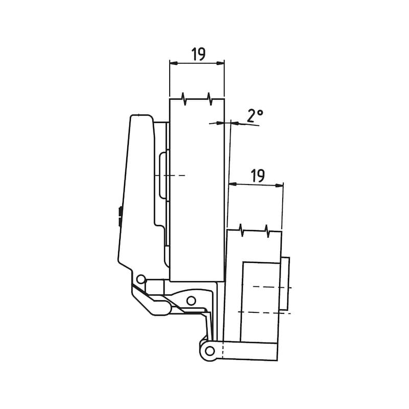 Möbelscharnier  Slide-on - SPEZ-SHAN-NEX-ZD-ECKANSHLG-(NI)-270GRD