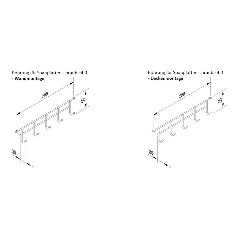 Hakenleiste VS TAL Broom - HAKLST-DECKENMNTG-ST-(CR)