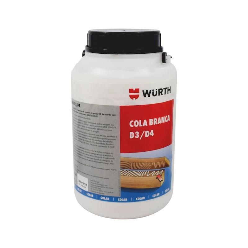 Cola branca para madeira D3/D4  - COLA BRANCA PARA MADEIRA D3/D4 5KG
