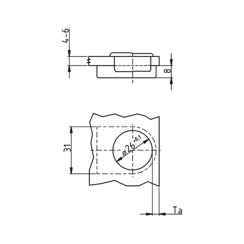 Zierkappe Typ B - ZB-ZIERKAPPE-SHAN-NEX-B-OVAL-(NI)/MATT