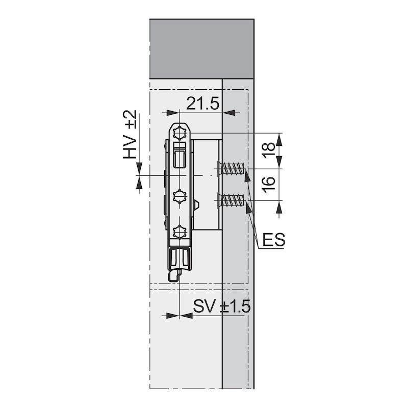 Blindfrontbefestigung Typ 7600 - 2