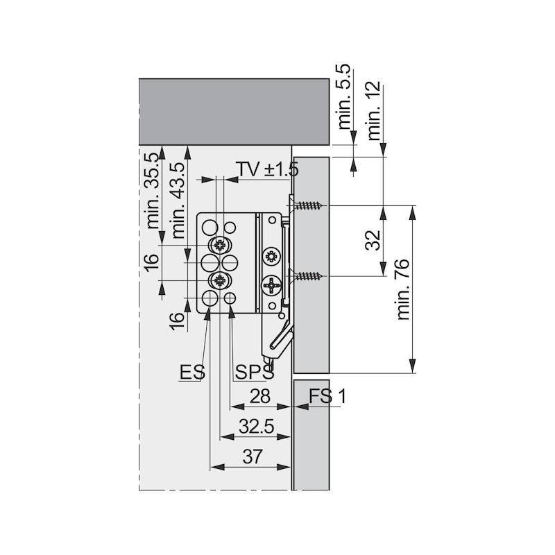 Blindfrontbefestigung Typ 7600 - 3
