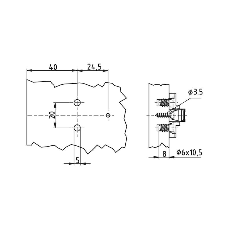Montageplatte Nexis 20 - 2