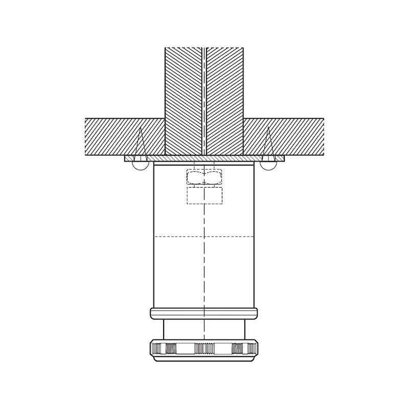 Mobilya ayağı bağlantı plakası, A tipi - METAL AYAK BAĐLANTI PARÇASI