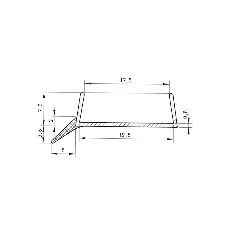 Sockeldichtprofil - SOCKDIPRFL-KUE-TRANSP-ST19XL3000MM