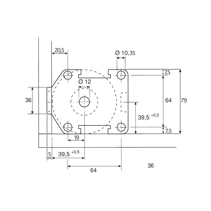 Sockelhöhenversteller Typ C - SOCKHVERSTL-KUE-C-DBL-85MM