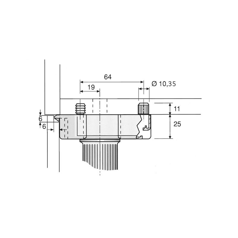 Sockelhöhenversteller Typ C - SOCKHVERSTL-KUE-C-DBL-45MM