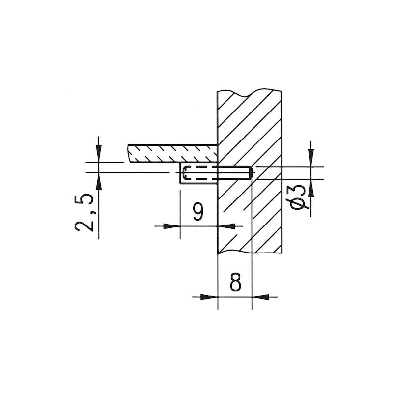 Glasbodenträger mit Kunststoffkappe - BODTRG-EINSTE-GLASBOD-PVC/KA-ZAPFD3/5X17