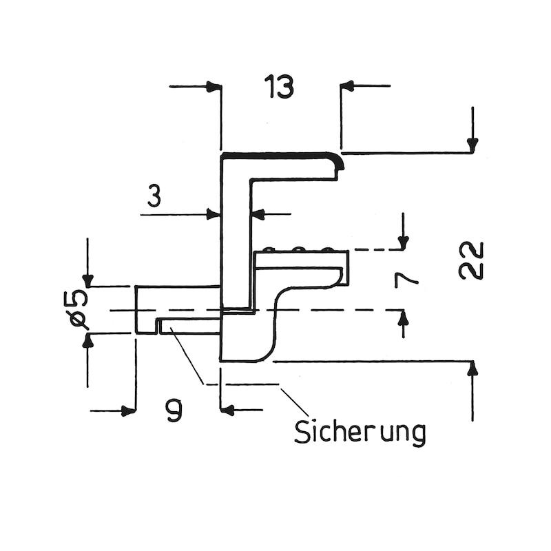 Variabler Glasbodenträger - BODTRG-EINSTE-GLASBOD-SI-ZD-(NI)-8/12MM