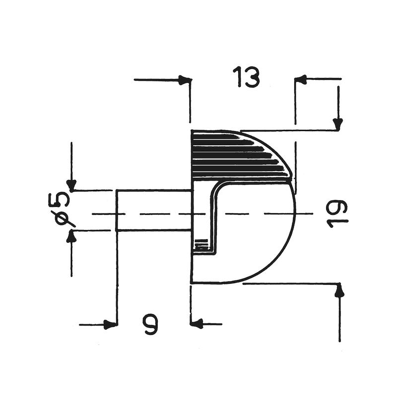 Variabler Glasbodenträger - BODTRG-EINSTE-GLASBOD-SI-ZD-(NI)-6/10MM