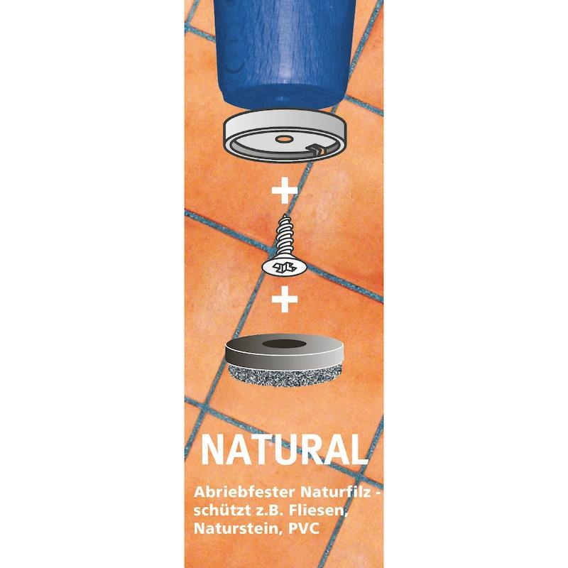 Möbelgleiter Einsatz Natural-Gleiter - EINSAGLEIT-NATURAL-WEISS-D50MM