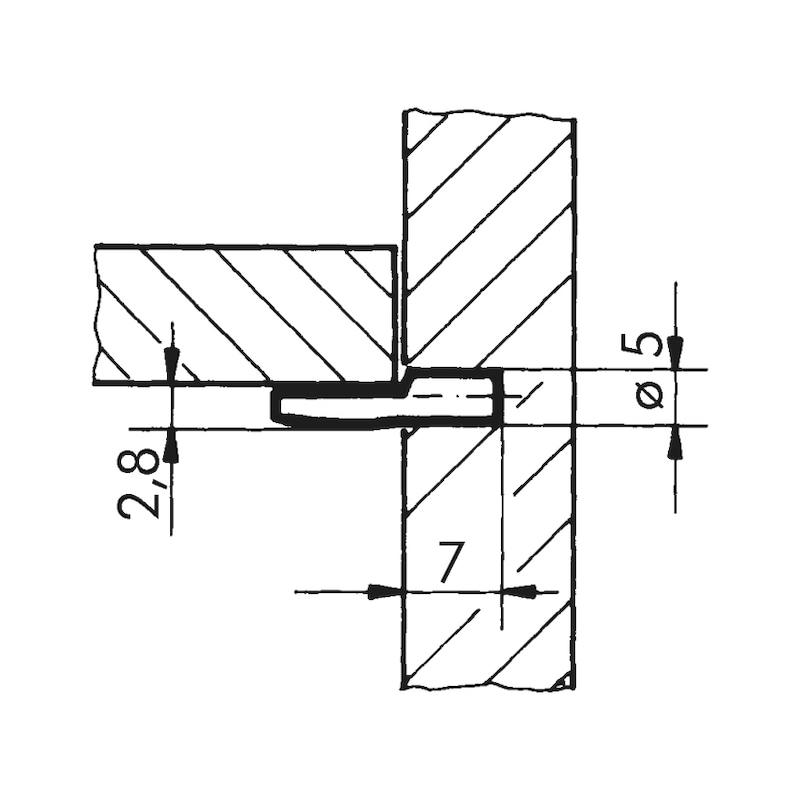 Bodenträger Löffelform - 2