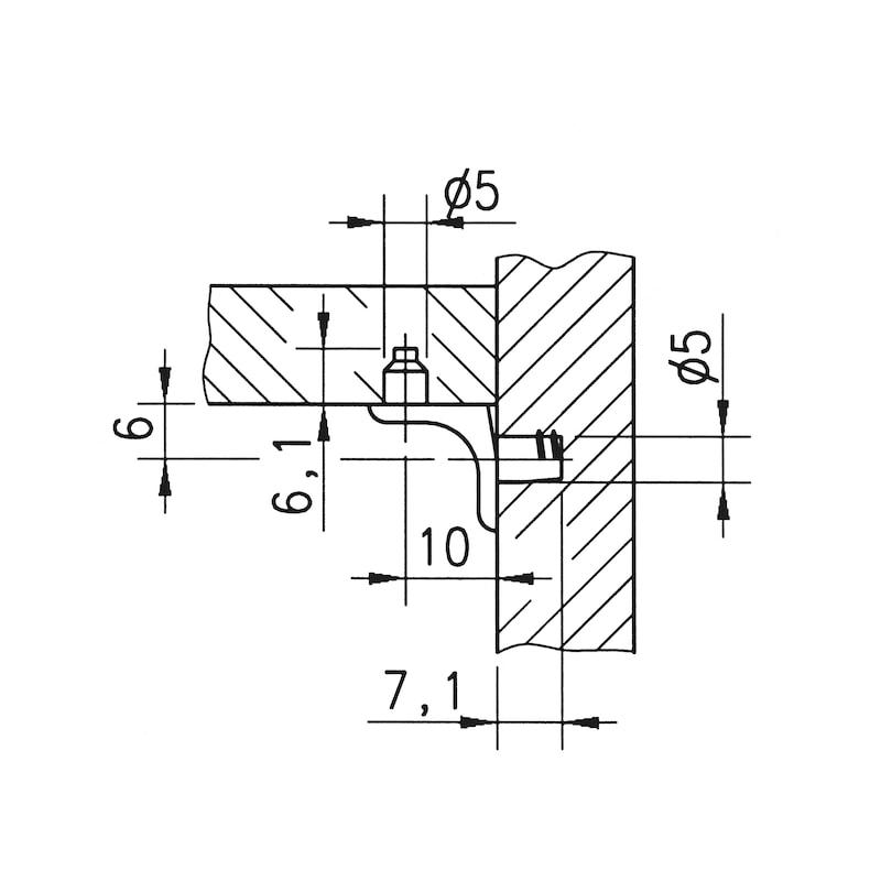 Bodenträger mit Steckzapfen - 0
