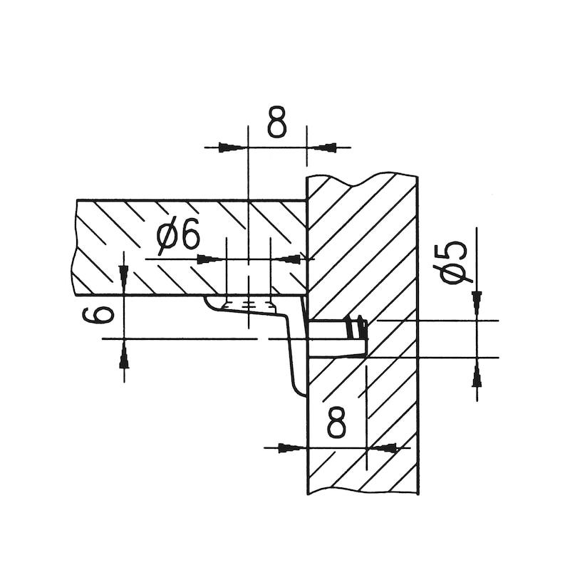 Bodenträger mit Befestigungsloch - 2