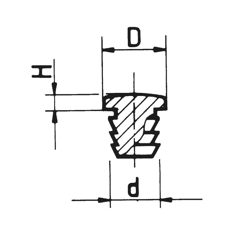 Türanschlagpuffer zum Einbohren - 2