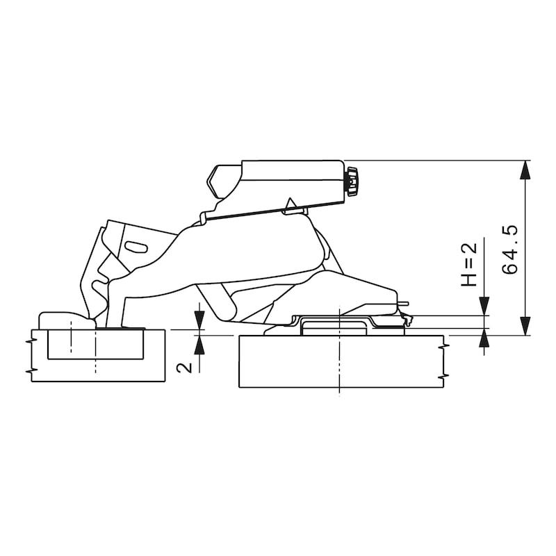Fren aparatı Soft-close 170° - SOFT CLOSE ADAPTÖR 170DER.MENT.ICIN