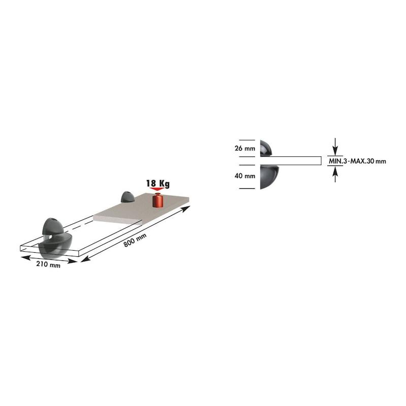 Kugeltablarträger - TABLARTRG-KUG-ZD-GROSS-A2/FINISH