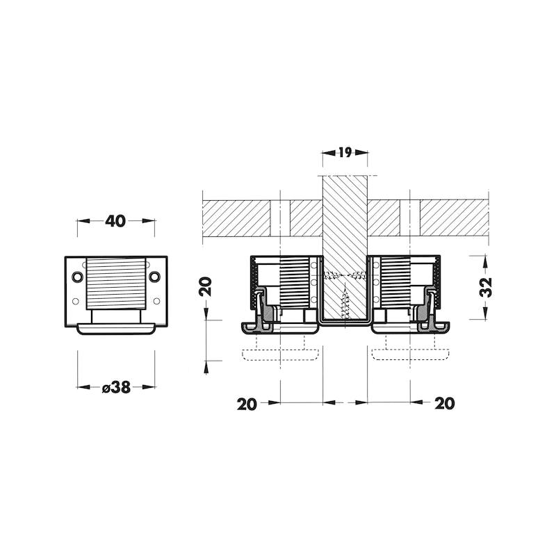 Doppelsockelhöhenversteller Typ G - 2