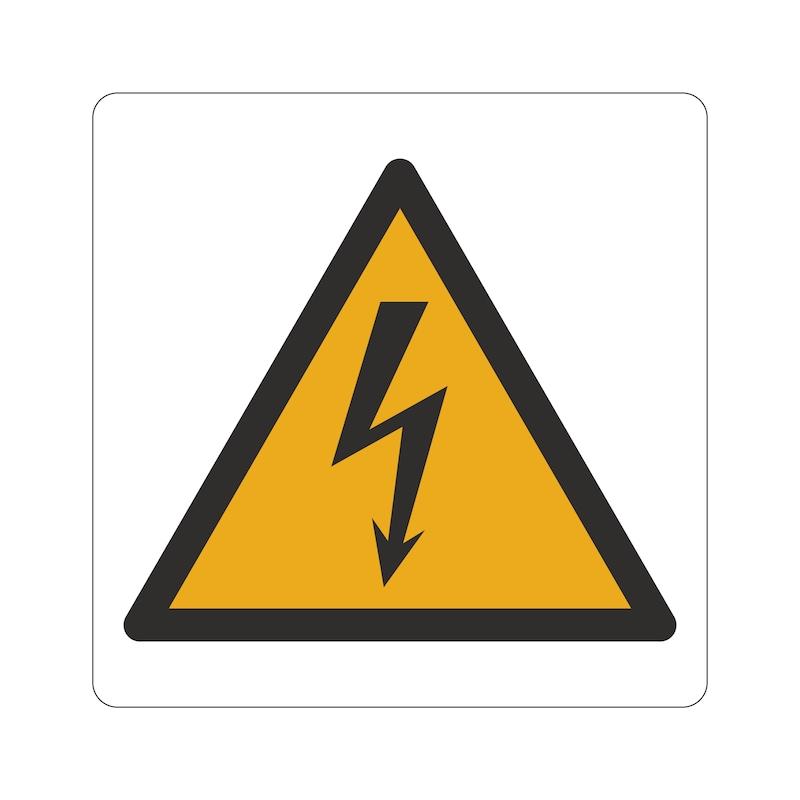 Panneau signalétique d'avertissement, installations et armoires électriques - 1