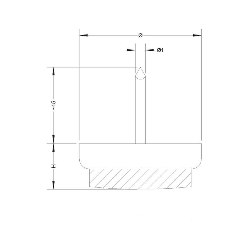 Filz-Möbelgleiter mit Stift - 2