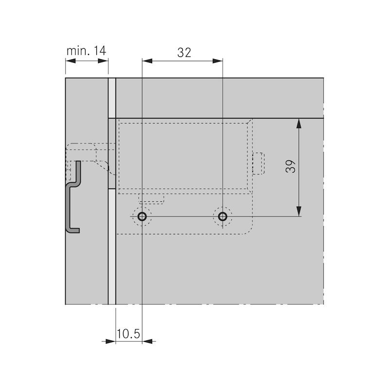 Schrankaufhänger SH 26 sichtbar - 6