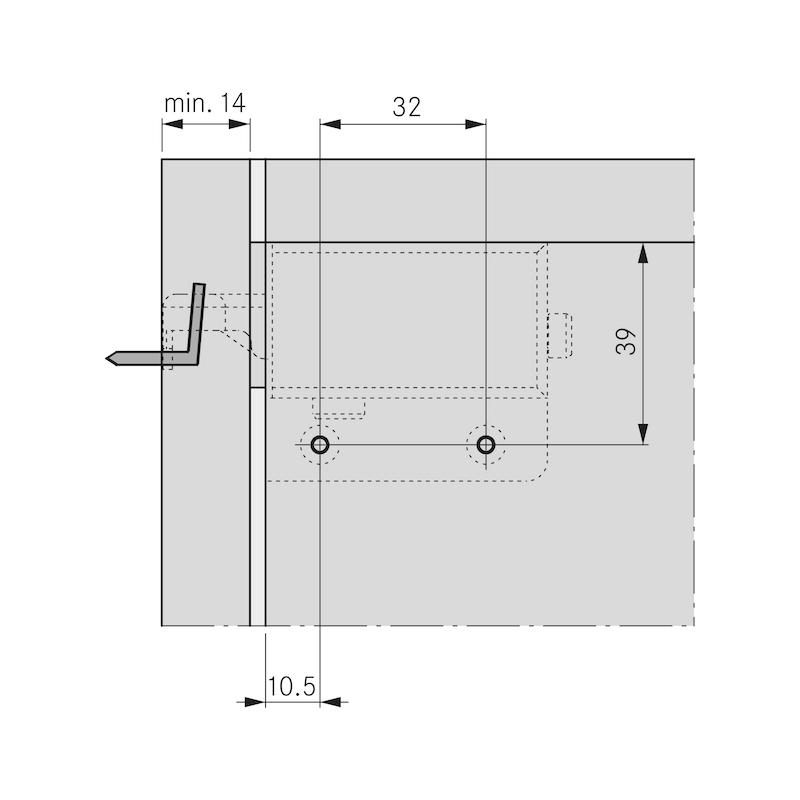 Schrankaufhänger SH 26 sichtbar - 5