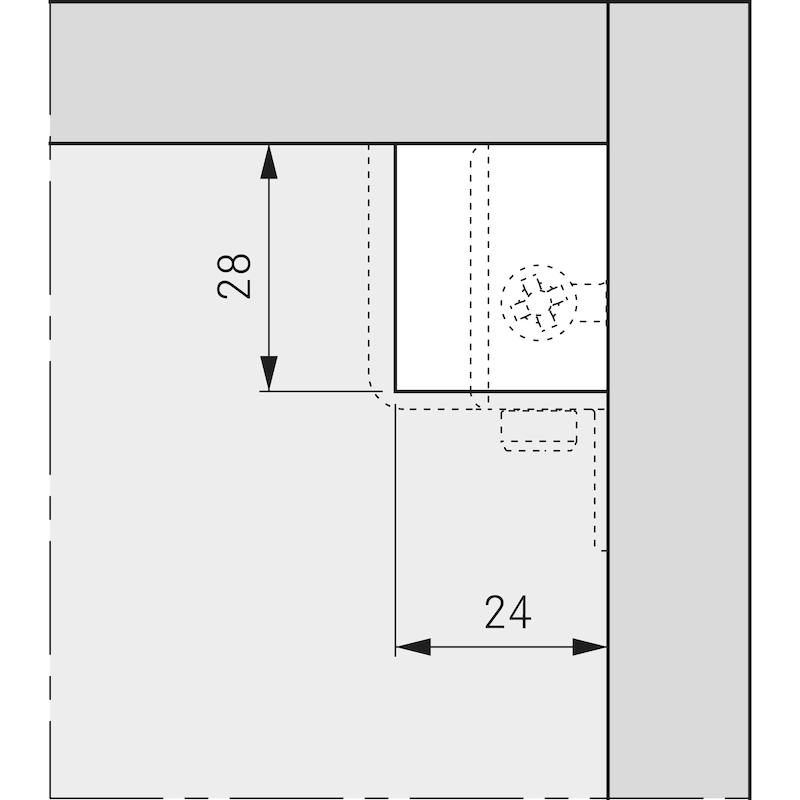 Schrankaufhänger SH 26 sichtbar - 4