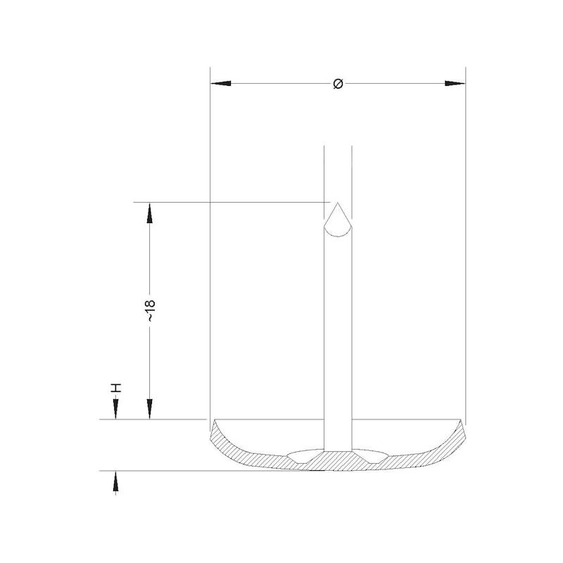 Metall-Möbelgleiter mit Stift - 2