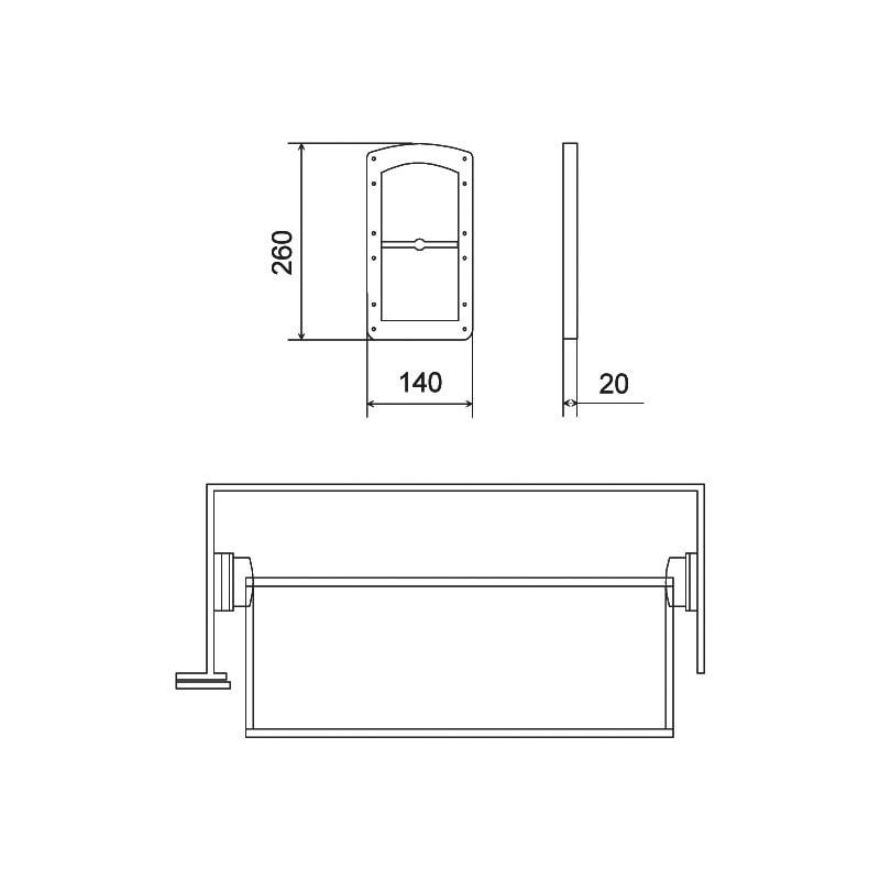 Distanzplatte für Kleiderlift KL 10 A - 2