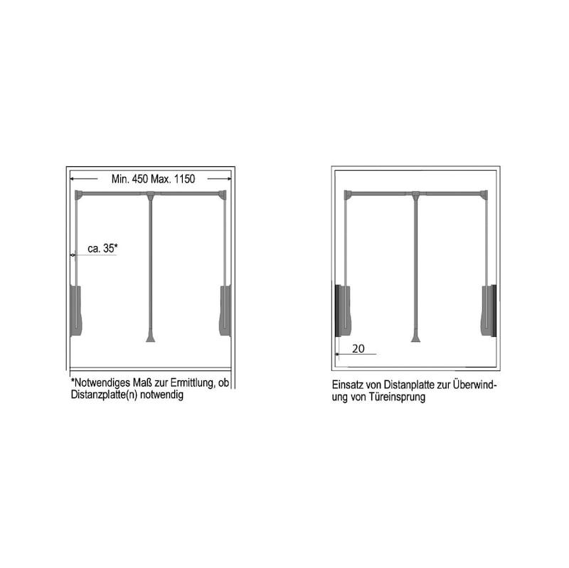 Distanzplatte für Kleiderlift KL 10 A - 3