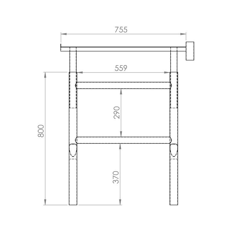 Cavalete extensível 80 - 140 cm - 2