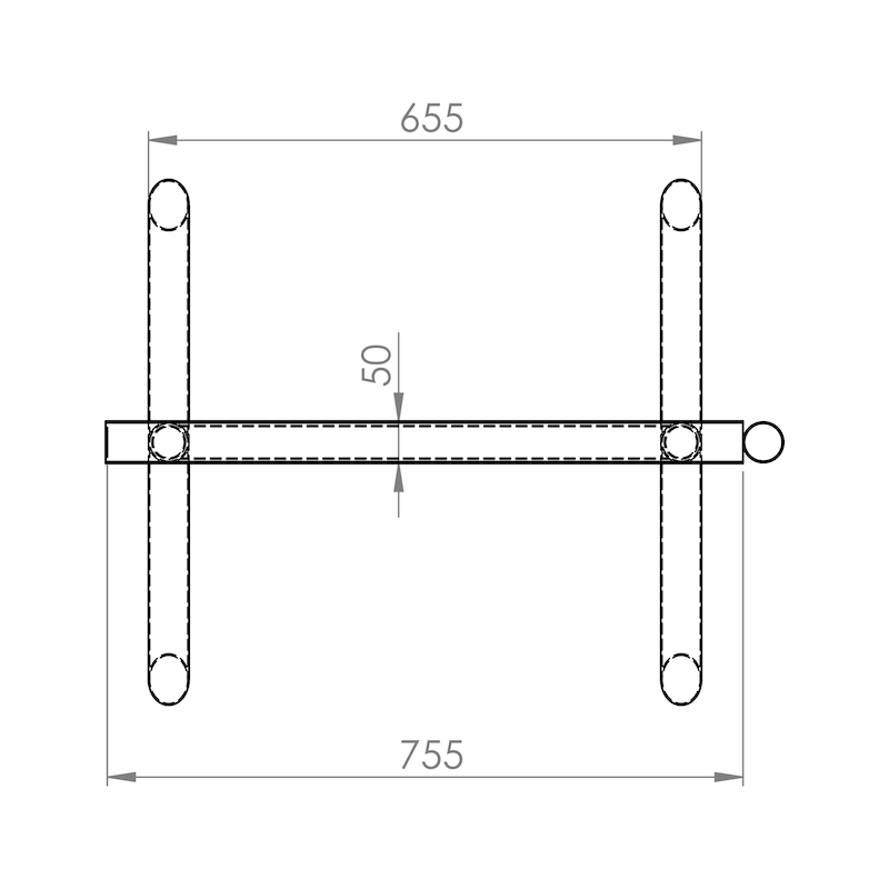 Cavalete extensível 80 - 140 cm - 3