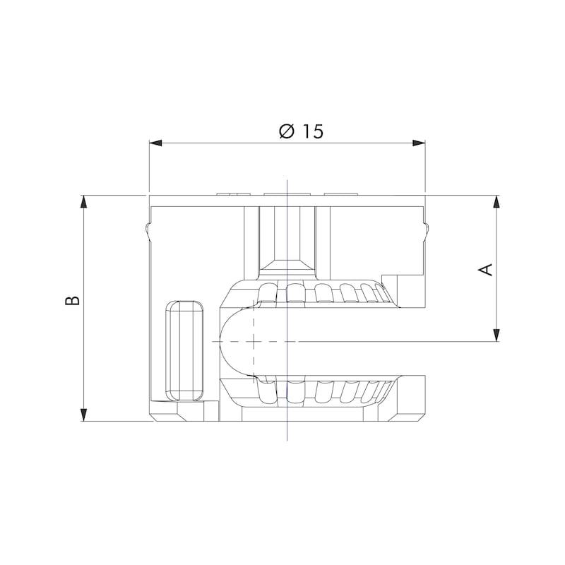 Excenterbeschlag ohne Bund - EXZVERB-ZD-(NI)-ST16MM