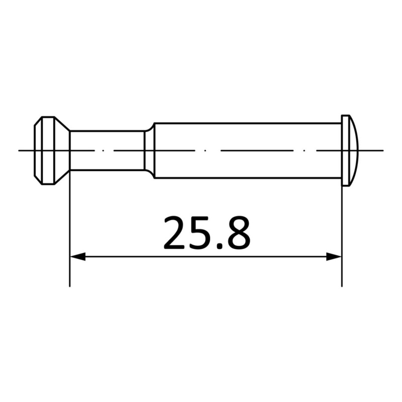 End connecting bolt - AY-CONBOLT-SYSCON/SV20-END-(CR)-19