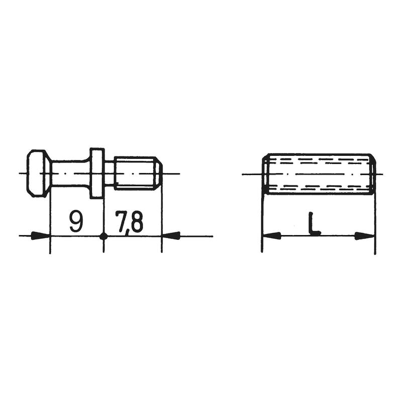 Verbindungshülse mit Bolzen - 2