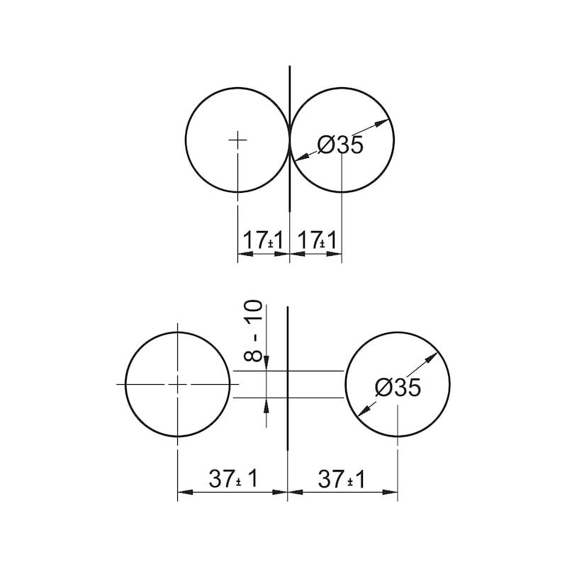 Plattenverbinder kurz - 2