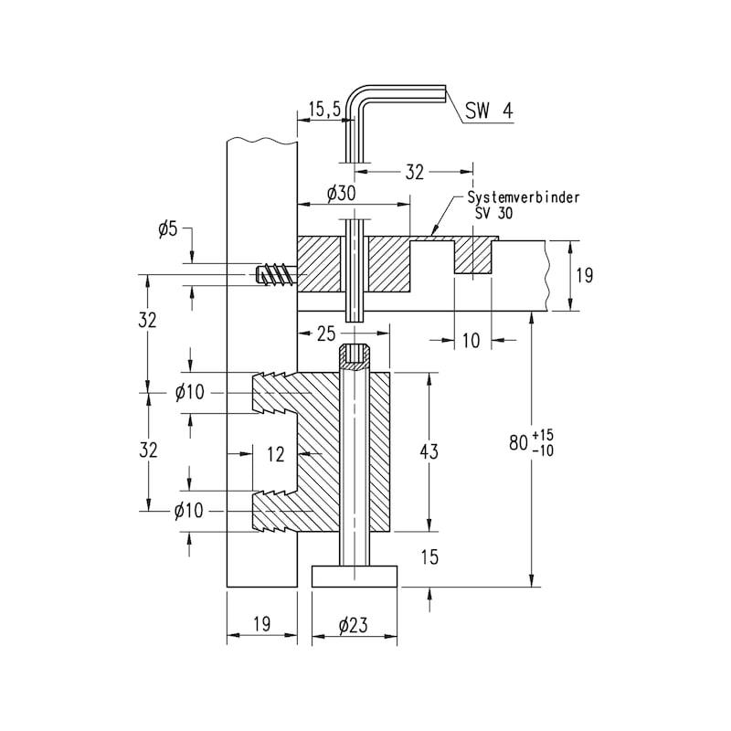 Systemverbinder SV 30 - 2