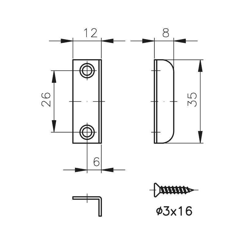 Angle locking plate, small MS 5000 - 2