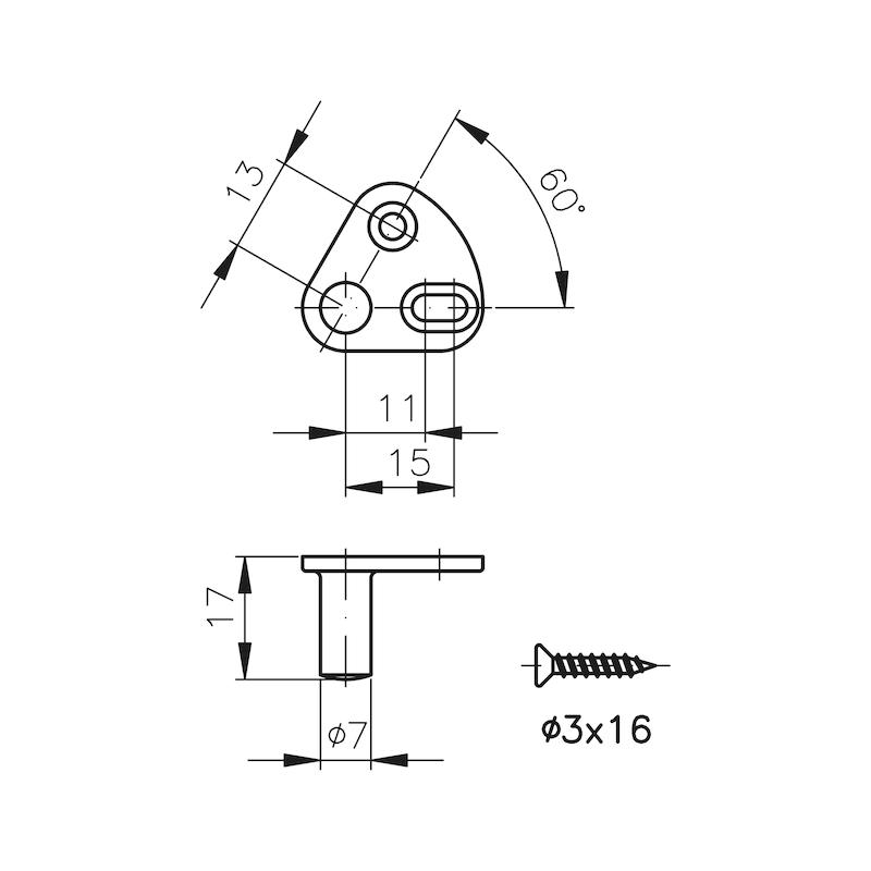 Schließbolzen auf Platte MS 5000 - 2