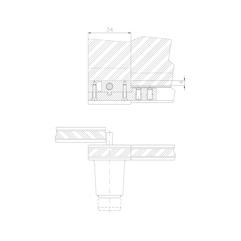 Glasschiebetürzylinder MS 5000 - 3